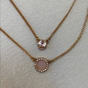DKNY Crystal/Stone Double Necklace